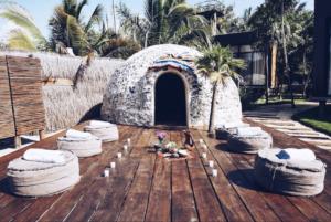 Sweat Lodge, yoga retreat