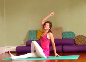 Leigha Yoga Ardha Matsyendrasana Smile