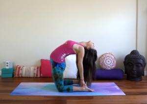 Camel Pose - Third Chakra Yoga Pose, chakras